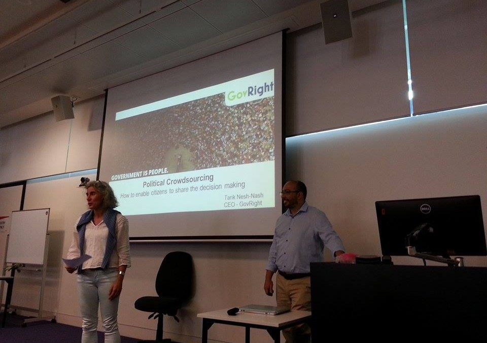 GovRight Presentation at RMIT University in Melbourne, Australia