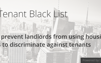 "Call for Action: New Yorkers to engage on drafting the ""Anti Tenant Black List"" bill"